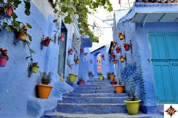 Case Blu Marocco : Da fez a chefchaouen la città blu del marocco i viaggi di manuel