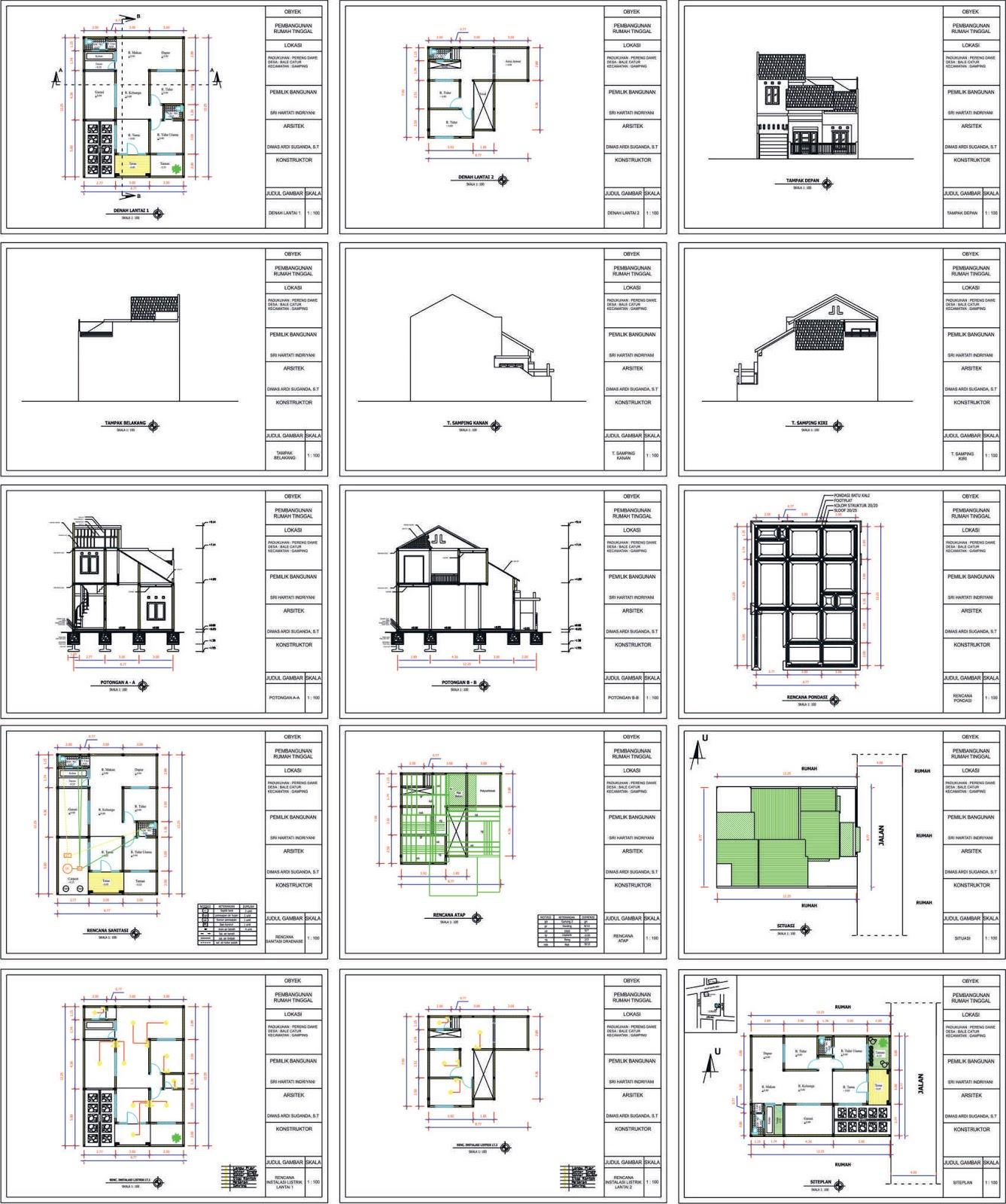 930 Gambar Imb Rumah 2 Lantai Gratis Terbaru