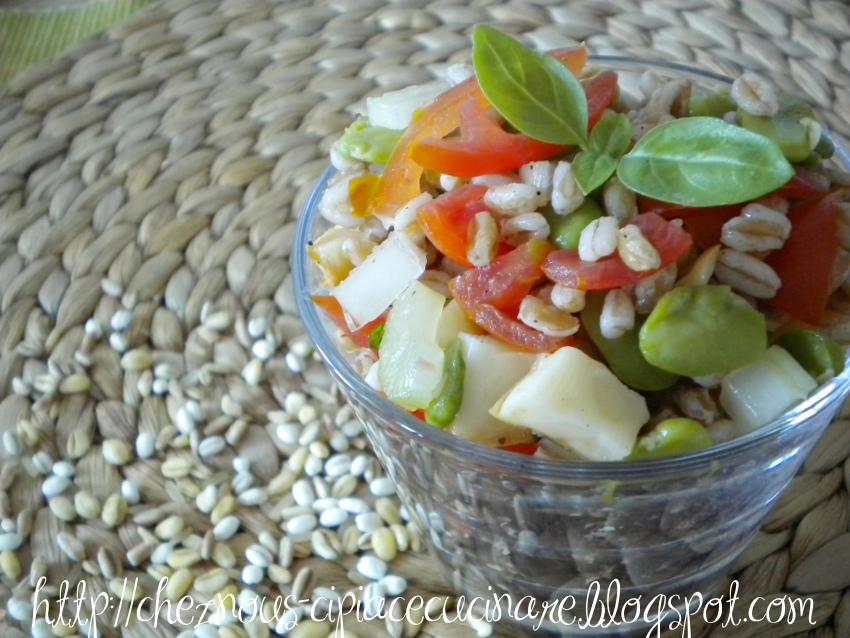 A casa nostra ci piace cucinare insalata di farro con for Cucinare vegetariano