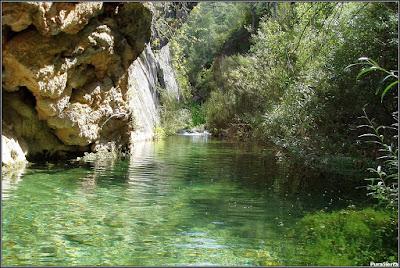 El Río Escabas remansado y encañonado