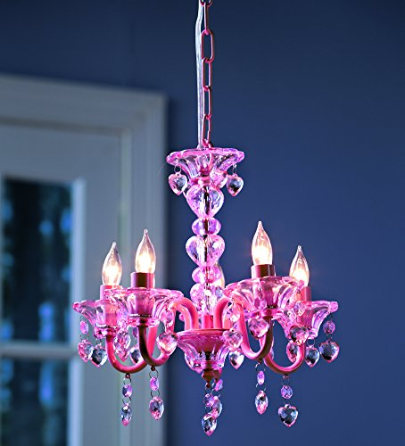 Affordable chandeliers for girls to teens rooms under 50 pink chandelier for nurserygirlsteens rooms aloadofball Choice Image