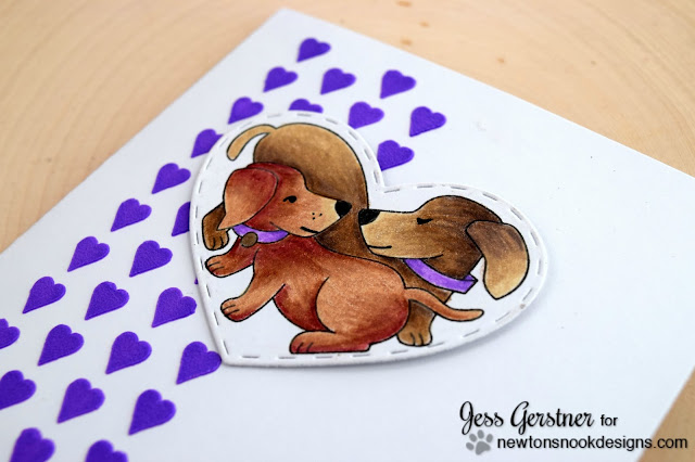 Puppy Valentine by Jess Gerstner featuring Newton's Nook Designs Darling Duos