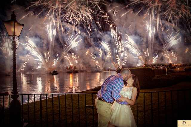 Disney World WEdding fireworks