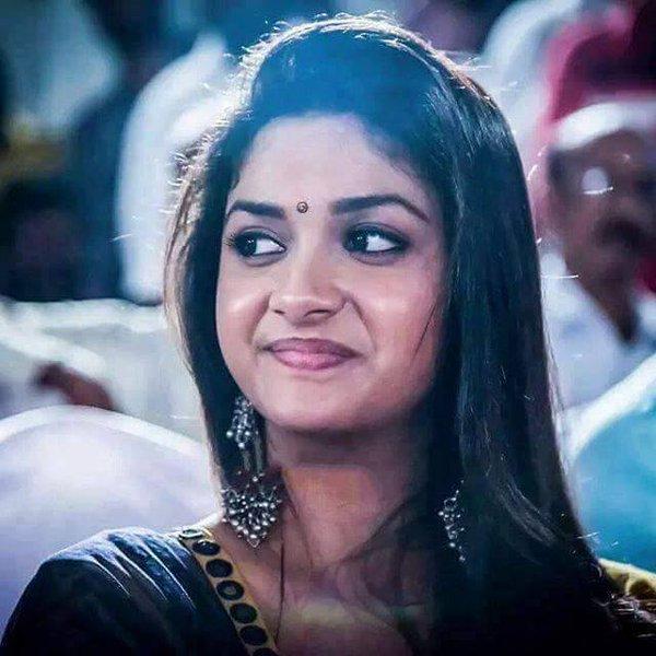 Keerthi Suresh hot smile in the Function