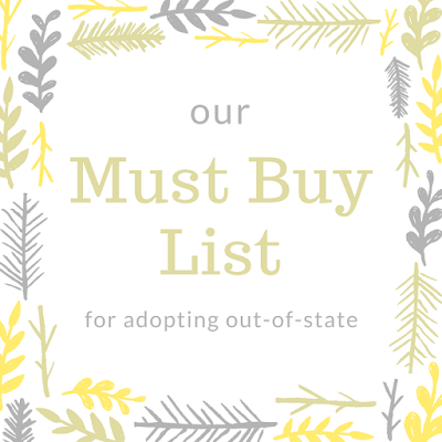 Called and Chosen: Day 9: Our Must Buy List for Adopting ...