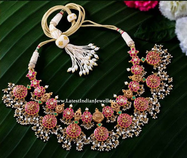 Lakshmi Ganesh Design Bottu Necklace