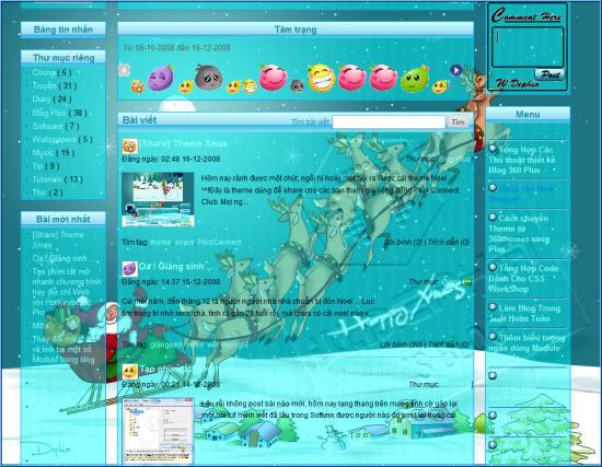 Hôm nay mình giới thiệu cách tạo Hiệu ứng tuyết rơi trên nền blog Yahoo! 360plus