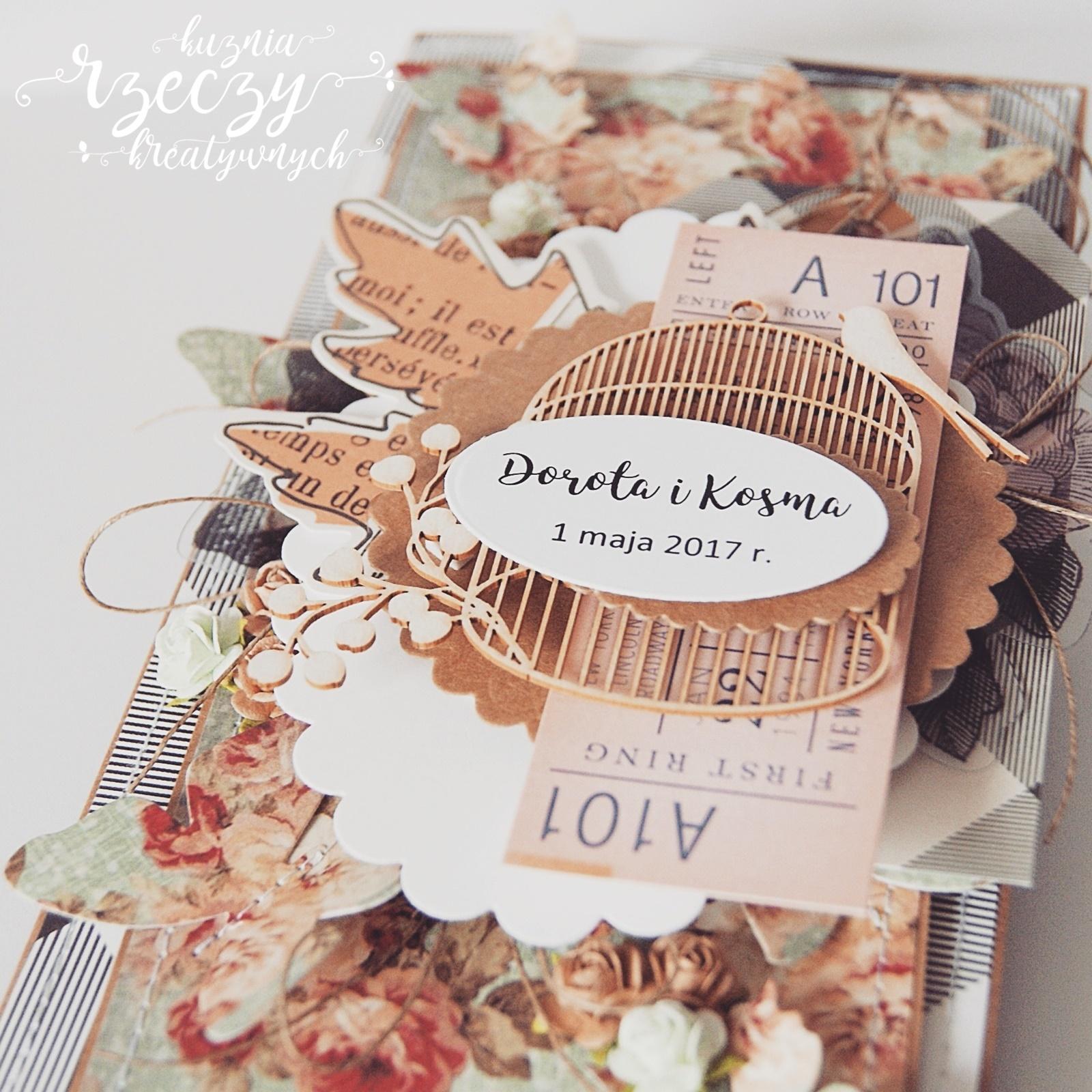 Ślubna kartka warstowa ręcznie robiona - inspiracja dla PaperConcept.