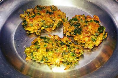 Spinach Fritters Palak Pakode Recipe