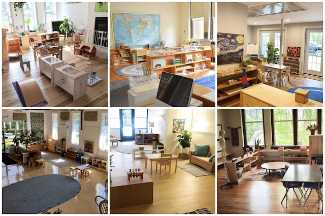 A look at beautiful Montessori classrooms from infants through elementary age.