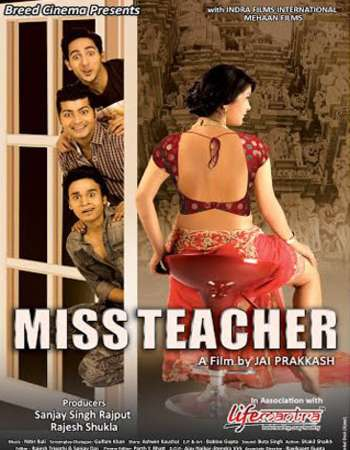 Poster Of Miss Teacher 2016 Hindi 150MB DVDRip HEVC Mobile ESubs Watch Online Free Download Worldfree4u