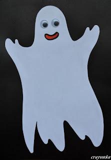 wesoły duch z białego papieru