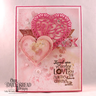 Our Daily Bread Designs Stamp Se: Love You Bunches, Paper Collection: Heart and Soul, Custom Dies: Pierced Rectangles, Double Stitched Pennant Flags, Pennant Flags, Layering Hearts, Tulip Heart