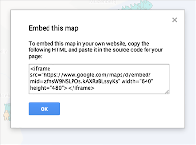 Embed your map from Google My Maps