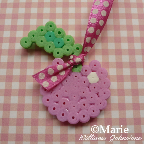 DIY craft cherry pattern for fused hama perler beads how to make cute embellishments craftymarie