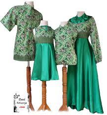 Baju Batik Muslim Pesta Couple Keluarga Modern