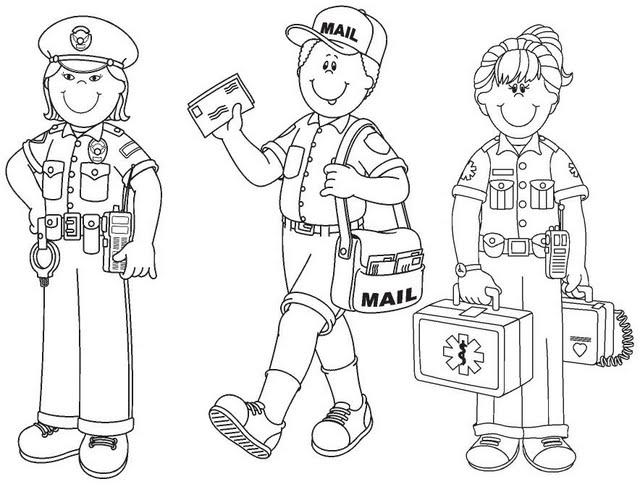 Dibujos Para Colorear Trabajadores Mi Comunidad