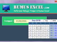 Membuat dan Menampilkan Calendar Control Class di Excel