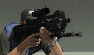 Arma3用EricJ武器MODのSRSS Bulldog 小銃