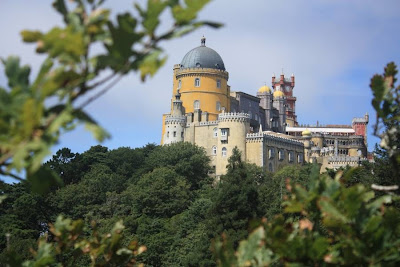 Pena National Palace in Sintra from Pena Park