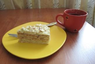 выпечка на сковороде, коржи для торта сухие, крем заварной, тесто на сгущенке, торт быстрый, торт кремовый, торт на сковородке, торт слоёный, торты