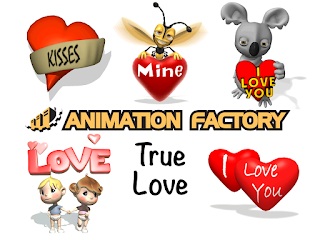 Clipart Image of a True Love Sticker Pack