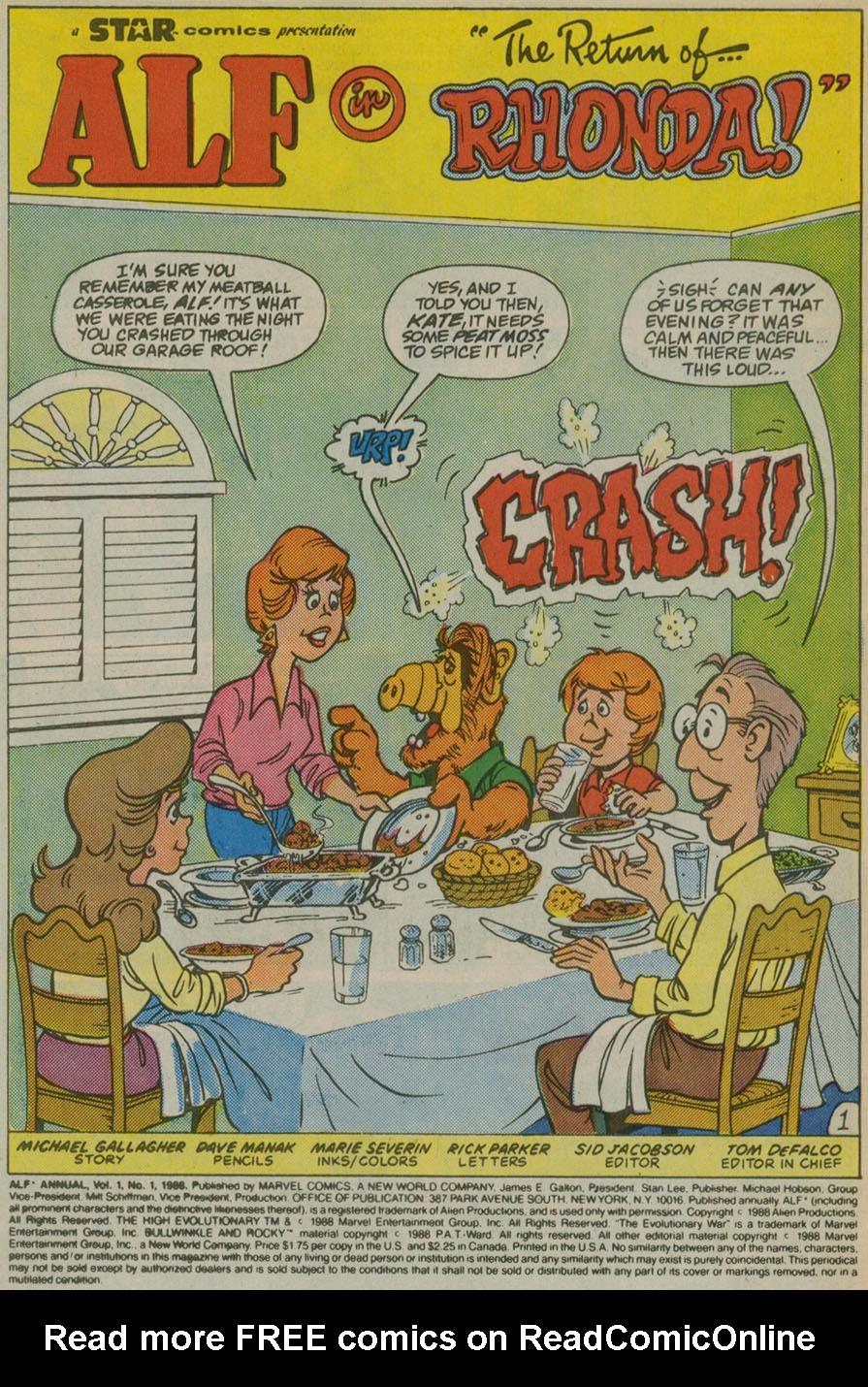 Read online ALF comic -  Issue # _Annual 1 - 2