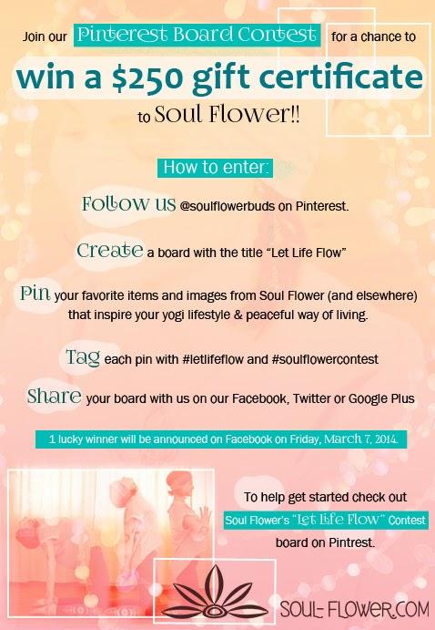 pintrest contest3 - Soul Flower's 'Let Life Flow' Pinterest Contest