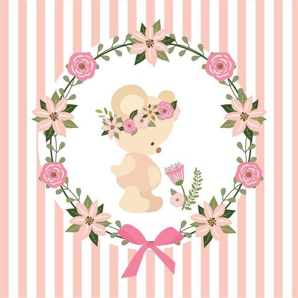 Mini Kit De Osita Con Corona De Flores Para Imprimir Gratis Oh My Bebé
