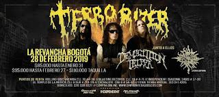 POS 1 Concierto de TERRORIZER en Bogotá 2019