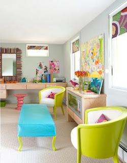 sala muebles de colores