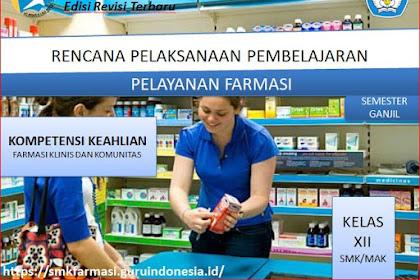 RPP Pelayanan Farmasi Kelas XII SMK/MAK Kurikulum 2013 Revisi 2018 Semester Ganjil