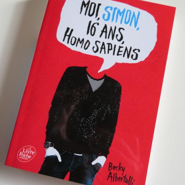 Moi, Simon, 16 ans, Homo Sapiens de Becky Albertalli
