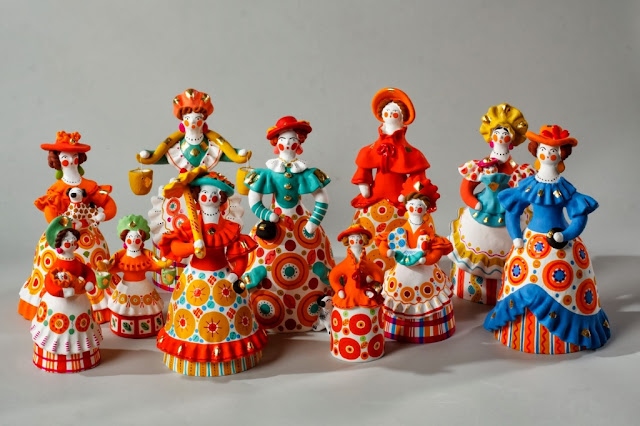 Clay dolls from Russia, Dymkovo toys