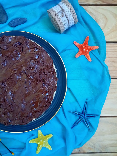 Tarta Stracciatella. Postre de verano sin horno. Cuca