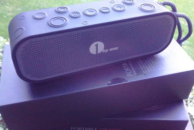 1Byone H2o Resistant Portable Bluetooth 4.0 Speakerphone Alongside Ultra Bass Booster!