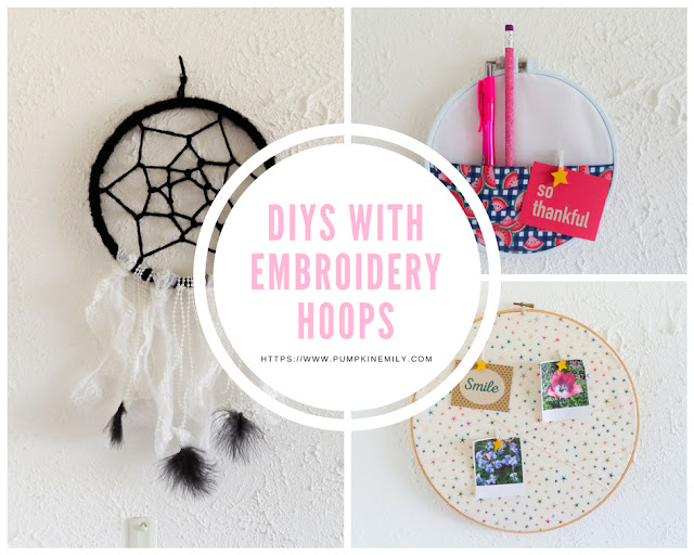 3 DIYs You Can Do With Embroidery Hoops