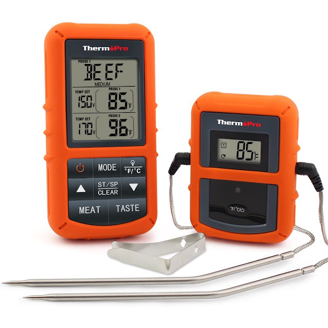 Reiew of Thermopro tp20 Wireless Remote Digital Cooking Food Meat Thermometer