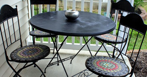 Condo Blues How To Make An Outdoor Chalkboard Paint Table