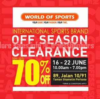World Of Sports International Sports Brand Off Season Clearance 2017
