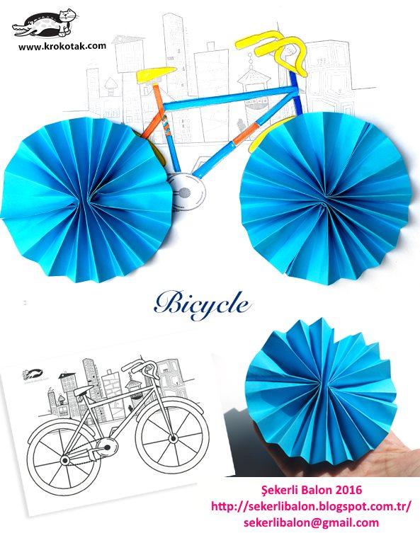 şekerli Balon Bisiklet Boyama