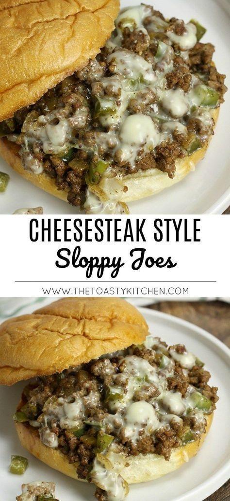 Cheesesteak Style Sloppy Joes