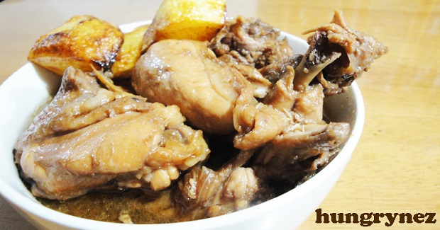 Sweet Chicken Adobo With Fried Potatoes Recipe