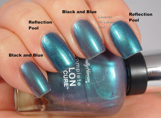 Sally Hansen Reflection Pool, and Black and Blue