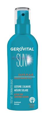 GEROVITAL SUN LOTIUNE CALMARE ARSURI SOLARE DUPA PLAJA