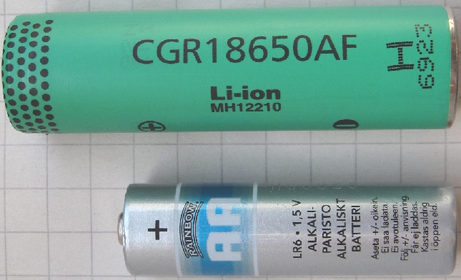 18650 Rechargeable Battery Size