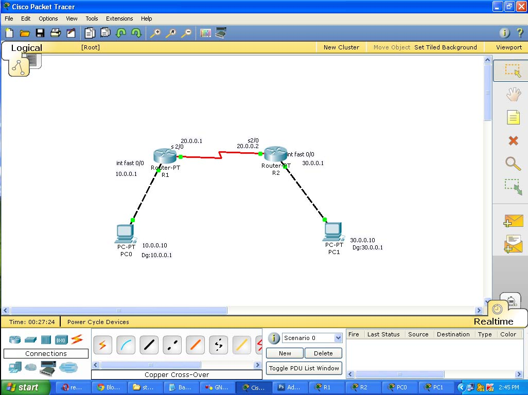 packet tracer setup
