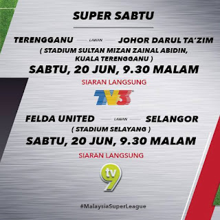 Live streaming Liga Super 20 Jun 2015 Terengganu vs JDT