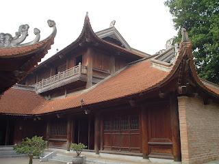 Exterior view of the Temple of literature (Van Mieu - Văn Miếu), Hanoi, Vietnam