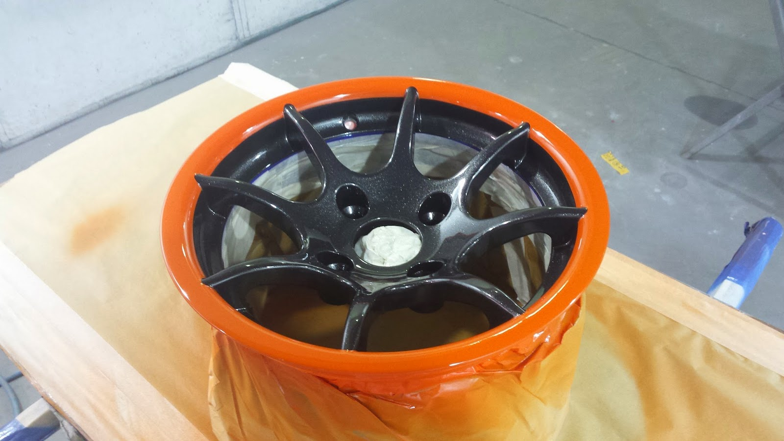 Wheel finished off with a couple of clear coats